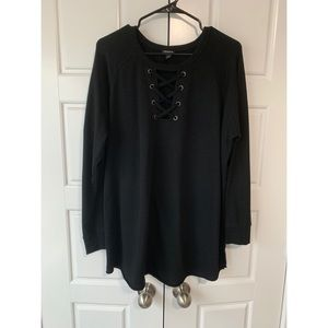 Black Sweater Top Plus Size